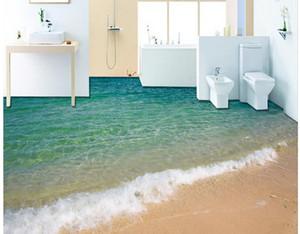 Современная Напольная Роспись 3D приморский прибой пляжная роспись по полу Mural-3d Обои ПВХ Самоклеющиеся напольные Обои-3d