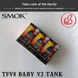 Original Smok TFV8 Baby V2 Sub Ohm Tanque atomizador de 5 ml con Baby V2 A1 A2 Bobinas 510 Rosca Bombilla 100% Auténtica Smoktech