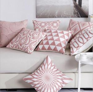 federa decorativa rosa federa ricamata chaise longue fodera per cuscino geometrica almofada etnica floreale cojines 45cm