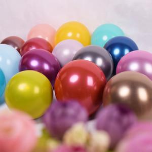 12 polegada Metálico duplo Balões De Látex Grosso Perolado Do Metal Liga de Cromo Cores Fotografia Festa de Casamento Decoração Balões