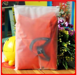 100pcs 24x35cm 지퍼 잠금 지퍼 상단 의류, T- 셔츠, 스커트에 대 한 젖 빛 비닐 봉지 사용자 정의 로고 인쇄 사용자 지정 로고 인쇄
