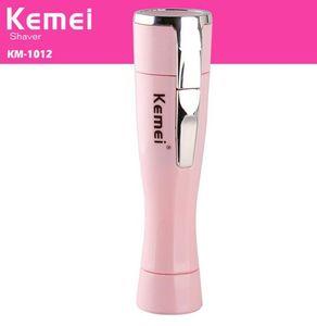 Kemei KM-1012 Portátil Lady pessoais barbeador elétrico de barbear Mini Depilador Depilação Navalha Trimmer