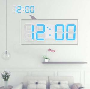 Светодиодные цифровые настенные часы 12H / 24H время с функцией будильника и повтора регулируемая яркость ночник настольная лампа светодиодные настольные часы