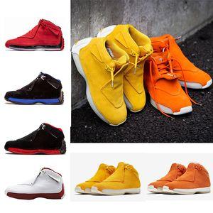 Ucuz 18 18s Erkek Basketbol Ayakkabı Toro OG ASG Siyah Beyaz Kırmızı Bred Kraliyet Mavi Spor Spor ayakkabılar eğitmenler açık tasarımcı