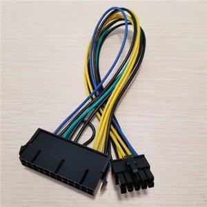 Оптовая продажа 100 шт./лот блок питания ATX 24Pin до 10Pin женский мужской адаптер конвертировать питания кабель шнур 30 см для Lenovo материнской платы 18AWG