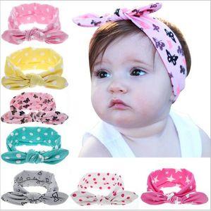 Bébé nourrisson Top Knot Bandeau Lapin oreille Bandeaux Bows Cute Girls Dot Hairband fille Turban Noeud Bandeau Bébé Accessoires cheveux