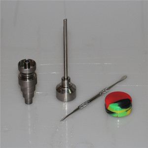 10mm & 14mm 18mm Adjustable Titanium Nail Tool Set Glass Bong Domeless GR2 Titanium Nail with Carb Cap Dabber Tool Slicone Jar Dab Container