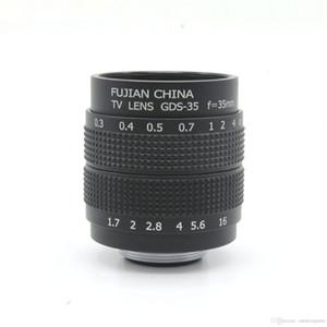 "35mm F / 1.7 C dağı 2/3 ""CCTV Kamera Dijital Kamera Mikro 4/3 Sony NEX FX için vücut"