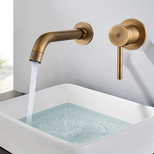 현대 브래스 경감 님이 벽 분지 믹서 수돗물 욕실 싱크 수도꼭지 스위블 주둥이 욕조 수도꼭지 단일 레버 화이트 화장실 싱크 믹서 크레인