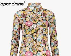 Black doodle, long sleeved cotton blouse ladies dress