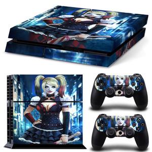 2018 harley quinn adesivo de pele para sony playstation 4 console + 2 pcs controle tampa decalques para ps4 dualshock 4 jogos acessórios