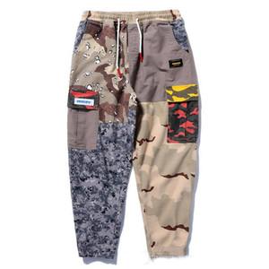 Pantalons de survêtement Hip Hop Hommes Patchwork Pantalons Décontractés Vintage Color Block Harem Joggers Camo Tatical Cargo Pants
