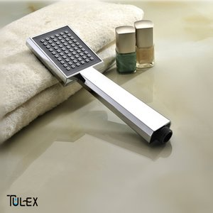 TULEX Shower Head Wholesale and Retail ABS Plastic Bathroom Sprayer Water Saving Chrome Handheld Handshower Single Function