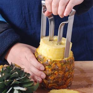 Gadgets mutfak aletleri yeni gereç paslanmaz çelik meyve ananas soyucu kesen kesici dilimleme manuel soyma makinesi