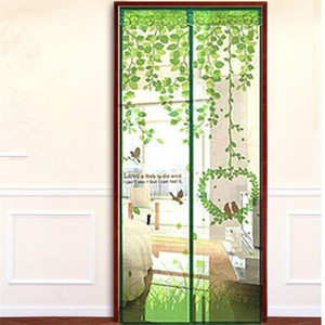 Polyester Ice Printing Window Curtains Screen Door Magnetic Soft Mosquito Repellent Design Hanging Curtain Home Art Decor For Gift 7fh2 ff