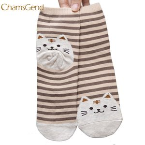 2017 3D Animals Striped Cartoon Socks men Cat Footprints Cotton Socks Floor