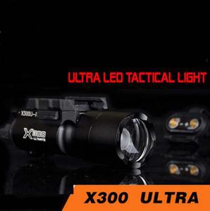 Airsoft Taktik X300 Ultra Işıkları Tabanca lanterna Picatinny Rail ile Airsoft X300U Fashlight 370 Lümen