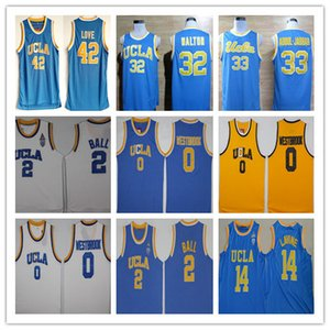 UCLA Bruins College Basketball Blue Russell Westbrook Lonzo Ball Zach LaVine Kareem Abdul Jabbar Reggie Miller Bill Walton Kevin Love Jersey