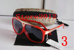 Vendita calda 1pcs Fashion Brand Brand Uomo Donna Pendenza Occhiali da sole Occhiali da sole Designer Glasses Eyewear Evident Sunglasses Spedizione gratuita