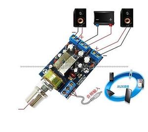 Бесплатная доставка усилитель доска AC 5-9V DC 5-12V TEA2025B 2.0 стерео двухканальный 3W+3W аудио