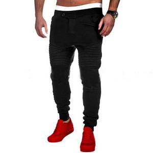 Mens Pants Designer Harem Joggers Sweat Pants Elastic Cuff Drop Crotch Biker Joggers Pants For Men Free Shipping