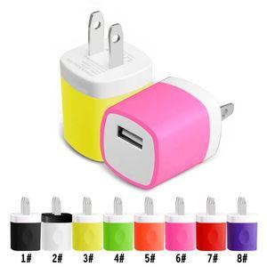 NOKOKO зарядное устройство Адаптер для путешествий для iPhone X Galaxy S8 Plus 5V / 1A Красочные США и ЕС Порты Мини-домашний адаптер питания без упаковки