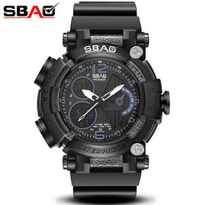 Reloj savaş tekniği de camuflaje SBAO con doble pantalla de geçirimsiz para adam, reloj pulsera deportivo, Dijital