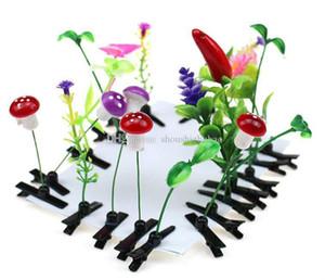 Más nuevo encantador novedad plantas hierba clips de cabello cabello cabeza pequeño brote antena horquillas afortunado hierba brote champiñones fiesta pelo