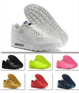 HOT 2018 Original Hommes 90 HYP PRM Qs Sneakers Jour De L'indépendance Homme Casual Chaussures De Course Zapatillas USA Drapeau Taille 40-46