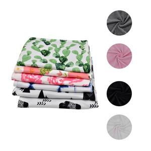 소프트 안아 아기 담요 40x48cm 새로운 디자인 다채로운 인쇄 크리스탈 벨벳 사랑스러운 담요 안아 랩 베이비 샤워 선물