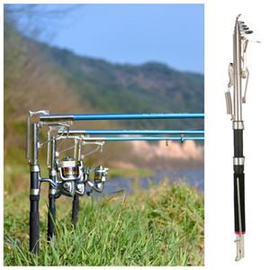 venta al por mayor 2.1 / 2.4 / 2.7m caña de pescar automática telescópica caña de pescar dispositivo de caña de pescar carpa aparejos de pesca extremos corte de pesca