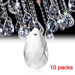 10 adet / paket temizle sanat cam damla avize kolye ışık lamba parçası asılı prizmalar diy aksesuarları kristal kolye parçaları