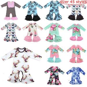 45style choisir bébé pyjama de Noël One Piece bébé filles barboteuses Floral Jumpsuit bébé manches longues Romper Filles Boutique Vêtements Onesies