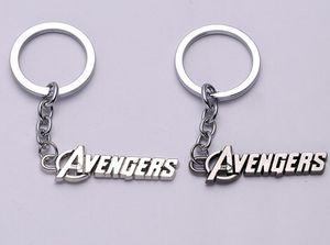 Marvel Comics the Avengers logo Keychain The Avengers Words Letter Keychain Metal Rings معجبين Chaveiro Key Chain Jewelry
