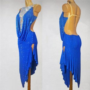 Latin Dance Dress New Women  Diamond Backless Latin Dresses Adult Dance Stage Competition Performance Costumes