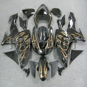 23colors + 8Gifts gold flames Kit de carrocería cubierta de motocicleta para Kawasaki ZX-10R 06 07 ZX10R 2006 2007 ABS Plastic Fairing