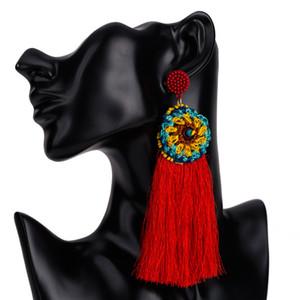 Kadınlar Için 7 Renkler Marka Tasarım Bohem Püskül Küpe-Uzun Püsküller Bildirimi Küpe-Moda Büyük Dangle Earing Boho Takı