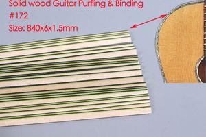 New 25pcs Acoustic Guitar Strip Wood Purfling Binding Guitar Body Wood Inlay 840x6x1.5mm