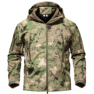 Vestuário Outdoor Pesca jaqueta impermeável de esqui Caminhadas Casacos Brasão Softshell Tactical Jacket Militar Plus Size 4xl Hunting Clothing