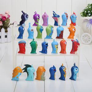 24pcs  Set 4 -5cm Cute Cartoon Slugterra Pvc Action Figures Toys Western Animiation Unisex Model Toy Figures