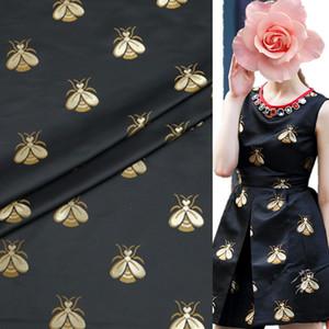 (10 cm/lote) tela de brocado jacquard para coser telas de abeja teñidas de hilo telas tela DIY acolchado para patchwork negro ancho es 168 cm para vestido