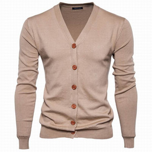 2018 New Autumn Winter Men 'S Sweaters College Style Chic Youth Men Sweater Cardigan Solid Color Casual Bottoming Knitted Top