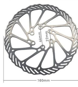 160mm Disc Brake Rotors 6 Bolts Stainless Steel for MTB Mountain Road Bike Bicycle Parts Accessory free shipping