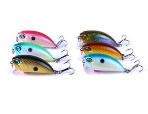 CB037 100PCS 8g piccolo Crankbaits isca wobblers artificiale Fishing Lure con Magnet Diving Bass Trout esca Attrezzatura da pesca