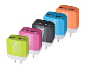 NEW Dual USB Wall Charger Power Port 2 Travel Adapter 1.2A For Iphone 6s iphone 7 Plus Android Samsung Huawei
