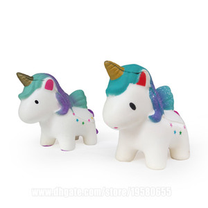 12cm unicornio Squishies Kawaii Squishy Animales lento aumento de la correa del teléfono X U N envío libre de DHL SQU079