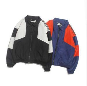 JIN JUE LES Primavera Otoño Chaqueta Hombres Moda Costura Thin Jacke Lovers Coats Alta Calidad Especial Diseño Parka Hombres Windbreaker