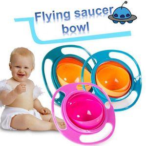 실용적인 키즈 아기가 아닌 Spil 수유 유아 자이로 그릇 360 회전 아기 피하는 음식을 흘리고 어린이 창조 그릇 먹이로