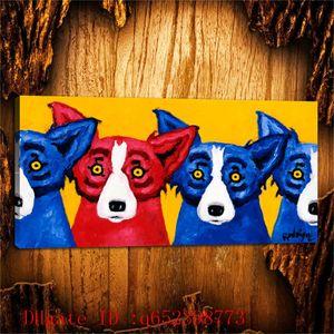 George Rodrigue Blue Hund -142, HD Canvas Printing neue Dekoration Kunst Malerei (ungerahmt / gerahmt)