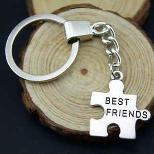6 Pieces Key Chain Women Key Rings Couple Keychain For Keys Best Friends Puzzle 27x24mm